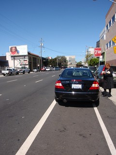 Person parks in the bike lane in San Francisco