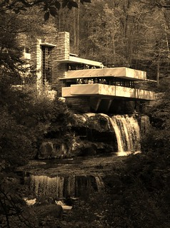 Fallingwater PA - sepia version