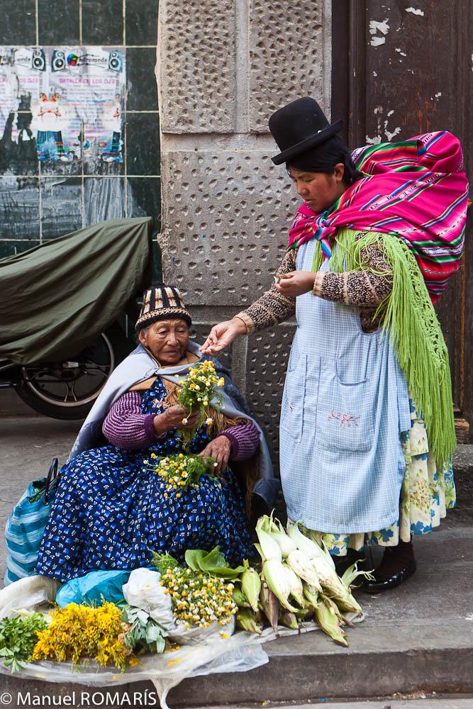 La Paz, Bolivia, flower seller