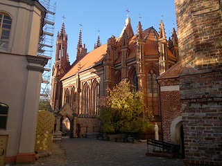 Image of  St. Anne's Church. vilnius