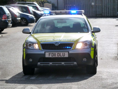 East Midlands Ambulance Service Skoda Octavia Rapid Response Vehicle FD11 OLU