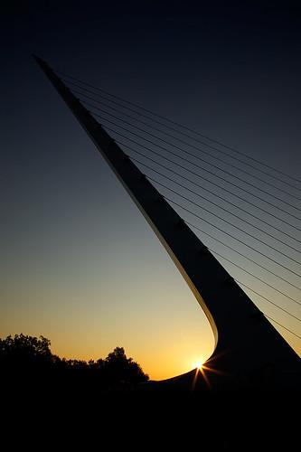 bridge sun silhouette sunrise canon dial sundial rise