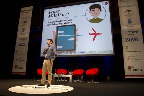 Javier Agüera en una conferencia