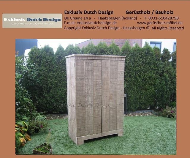 Bauholz lounge schrank regal sidetable2 for Schrank flach