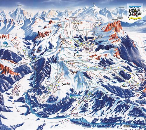 Flaine / Le Grand Massif - mapa sjezdovek
