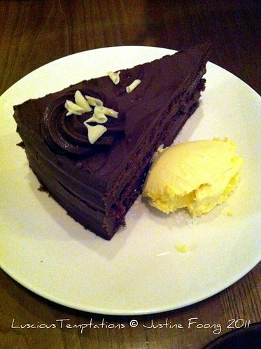 Chocolate Fudge Cake with Clotted Cream - Brew, Clapham Junction/Battersea