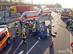 Verkehrsunfall mit Überschlag A3 19.11.11
