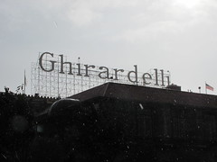 Ghirardelli in the Rain