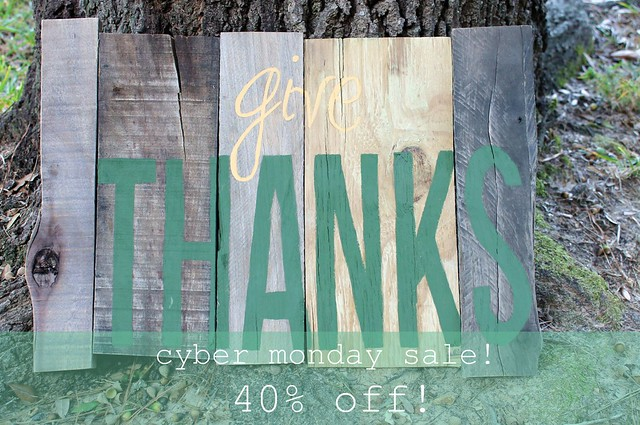 give thanks - cyber monday sale