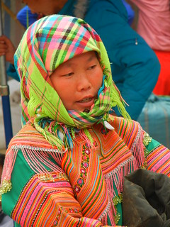 Flower Hmong Market Girl
