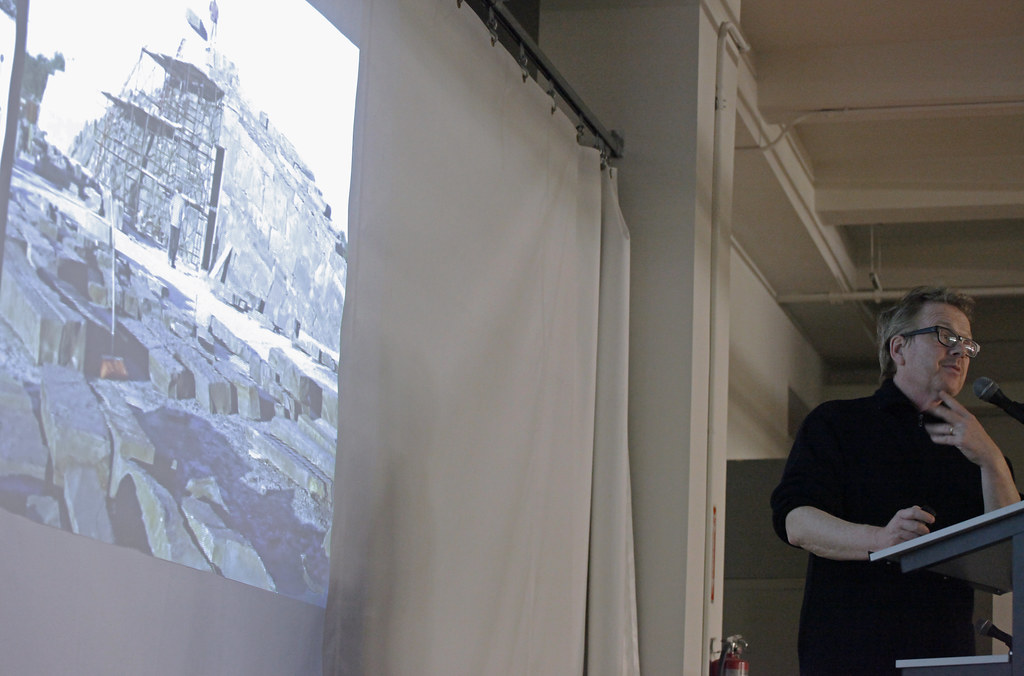 Michael Van Velkenburgh lecturing.