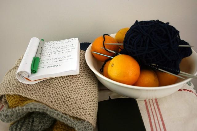 Knitting in progress