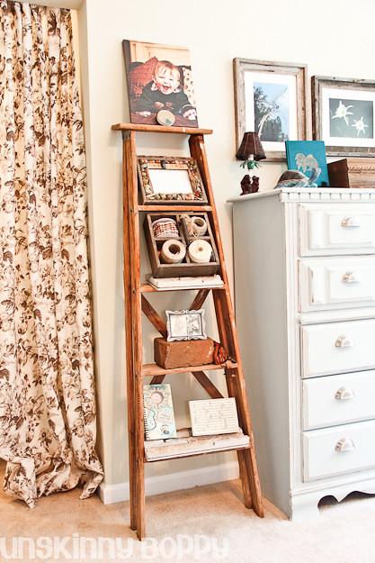 pottery barn old ladder bookcase diy