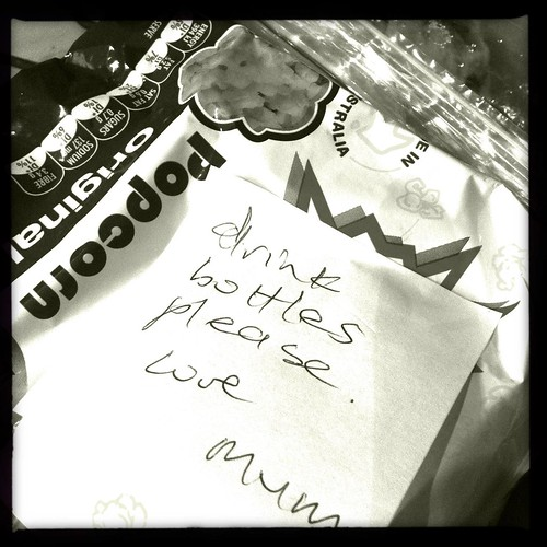 A reminder note in my son's lunchbox. Day 72/366.