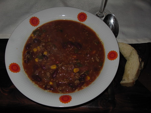 Bohnen-Hack-Chili-Suppe