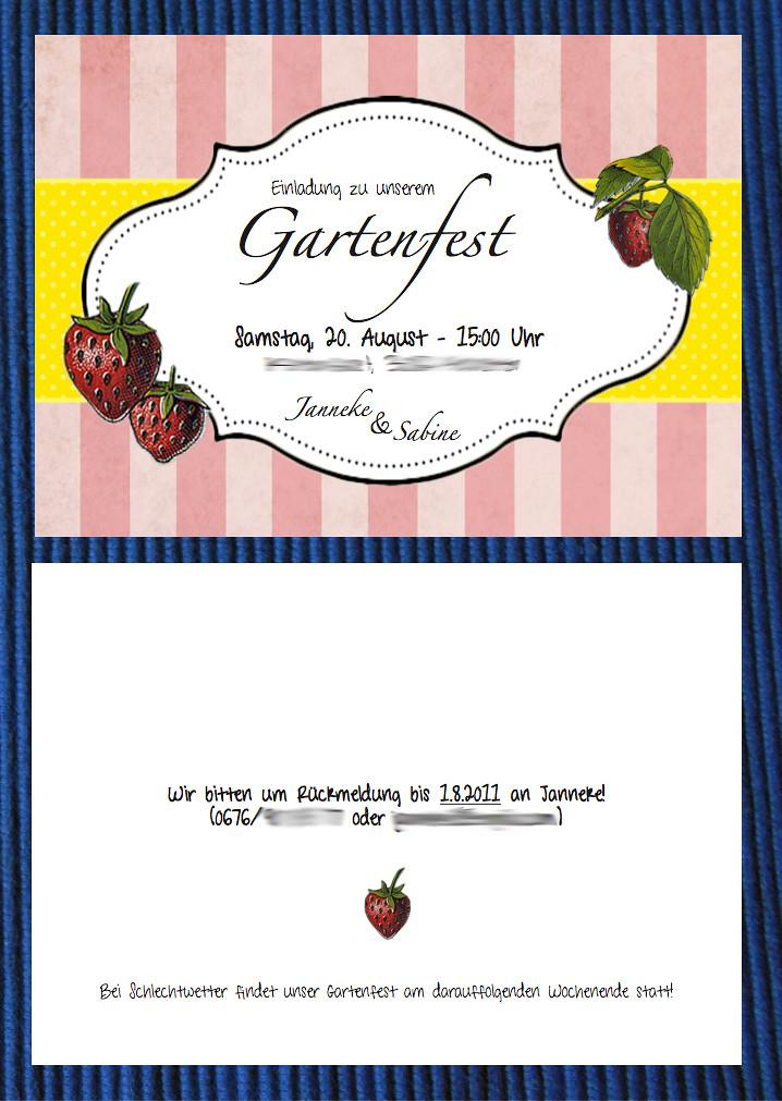 gartenfest einladungen – orangenmond, Einladung