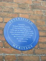 Photo of John Small and Richard Churcher blue plaque