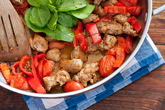 sausages with summer veg-2