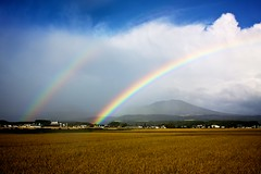 Insane Rainbow over Hachimantai Today