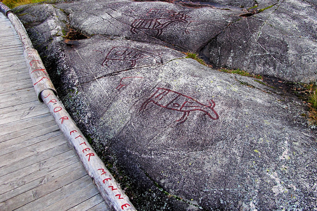 Rock Carvings at Møllerstufossen