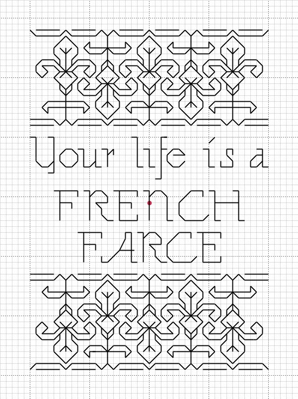 French farce pattern flickr photo sharing for Farcical writings