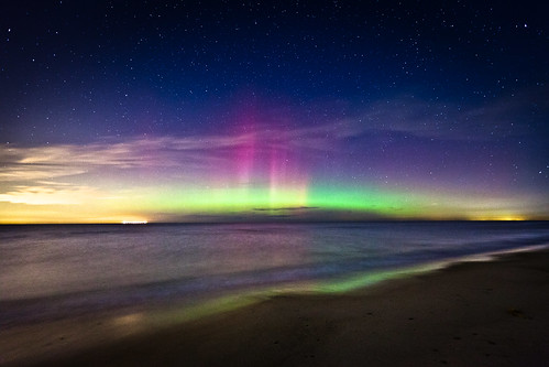 Aurora Over Lake Michigan