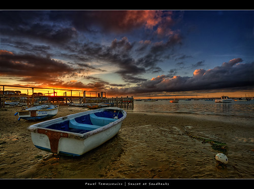 47.2011 - Boat - Poole - Sandbanks - UK - Sunset
