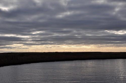 Kuskokwim Delta at Sunset