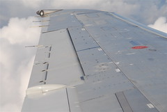 Wing of DC-9-51 N782NC, operating DL907, MSP - ORD, October 12, 2011