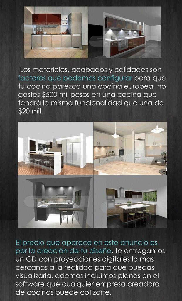 Cocinas integrales y dise o interior alacenas a mxn 250 for Cocinas integrales bogota sur
