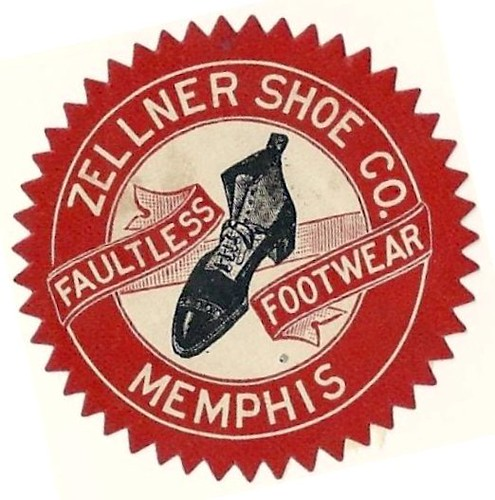 c. 1906 ad stamp for Zellner Shoe Co., Memphis, Tenn. by ⓑⓘⓡⓒⓗ from memphis