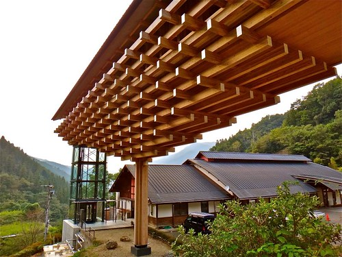 雲の上のギャラリー, 梼原 木橋ミュージアム, 雲の上のホテル, Kumo no ue no Gallery, Yusuhara, Kōchi, Japan