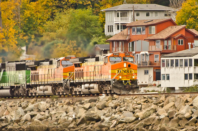 BNSF 4125, 4406 Freighter Picnic Point
