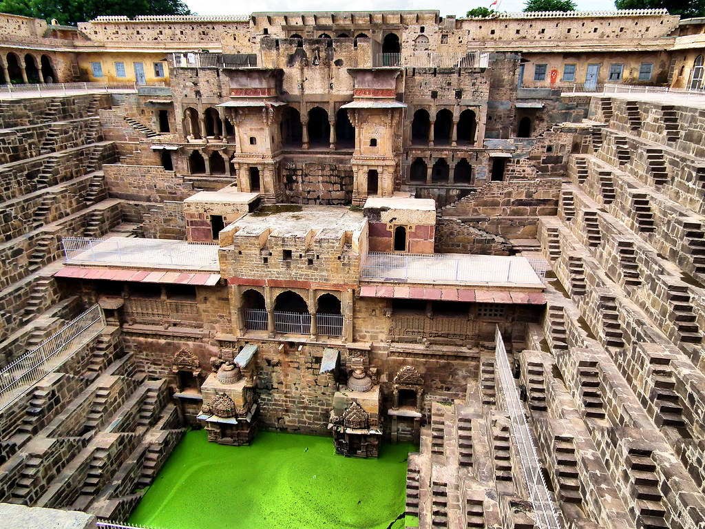 THE DEEPEST STEPWELL IN THE WORLD. CHAND BAORI, RAJASTAN, INDIA