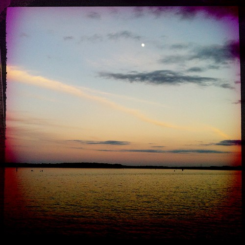 pink sunset sky nature water mississippi jackson reservoir fullmoon southern thesouth iphone rossbarnettreservoir brandonms hipstamatic