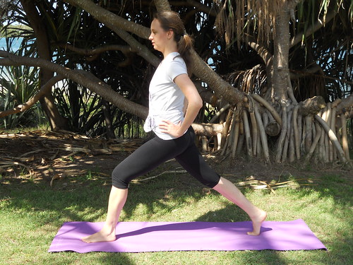 Warrior 1 Pose - Virabhadrasana I