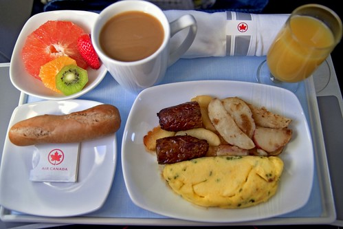 Air Canada Business Class Breakfast - Canon EOS REBEL T1i + Tamron SP AF 17-50mm f/2.8 lens