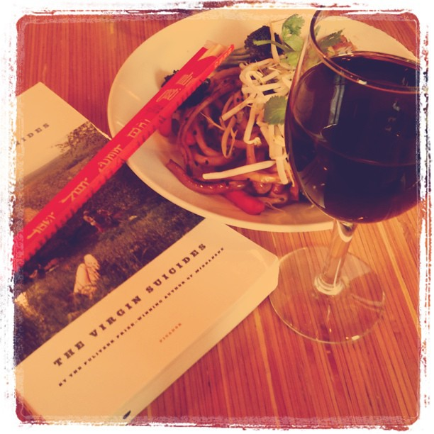 Instagram - me time: food, wine, book