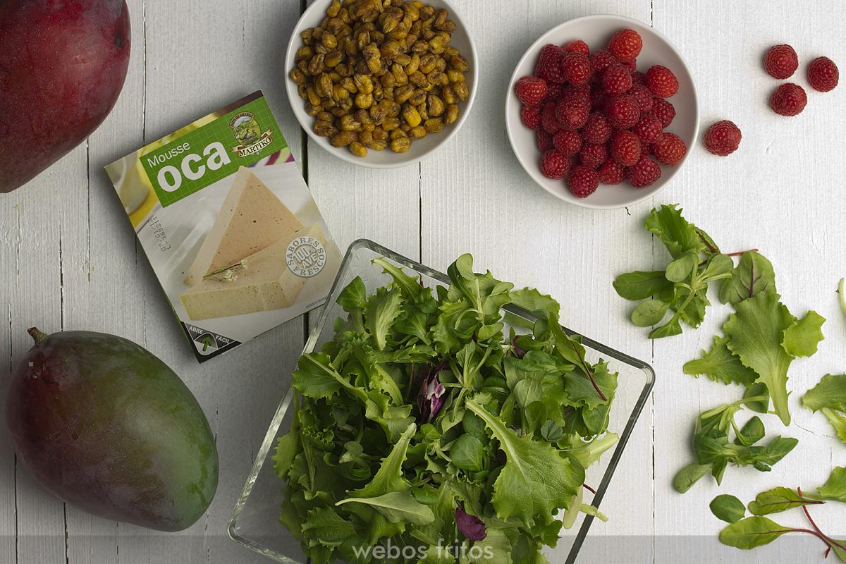 Ingredientes para la ensalada Pía