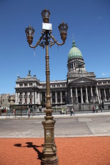 Lamppost across from the Palacio del Congreso