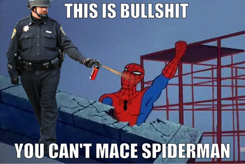 Davis Occupy pepper spray cop Lt. John Pike now a meme (imagery may offend)