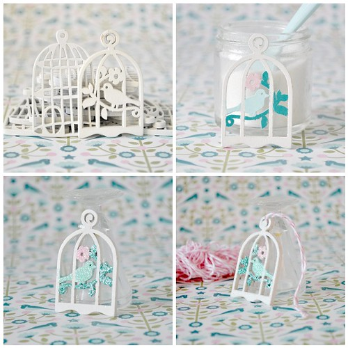 Mini glittered bird cages for my Christmas Tree steps1-4