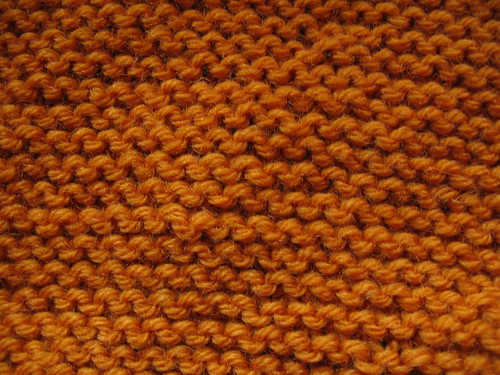 Yellow garter stitch