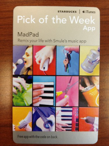 Starbucks iTunes Pick of the Week - MadPad