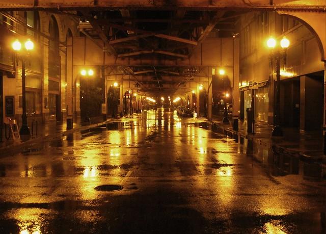 Rainy street scene at Chicago 2 | Flickr - Photo Sharing!