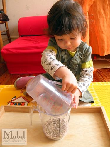 Montessori life skills: Pouring