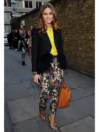 Olivia Palermo Floral Pants