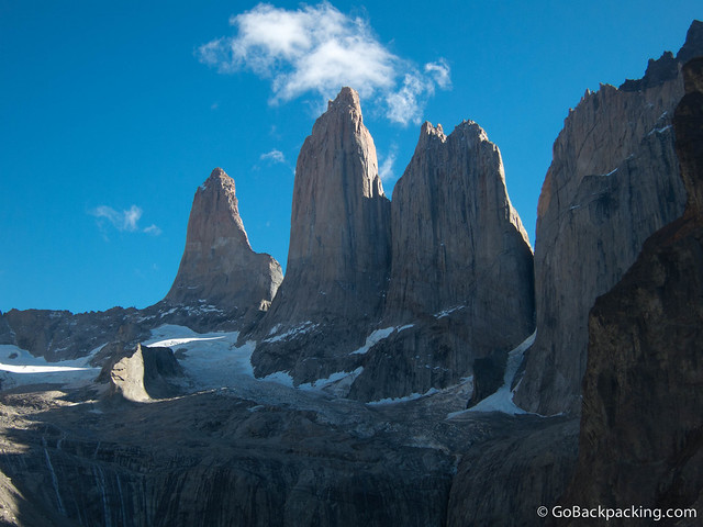 The Three Towers in Torres del Paine National Park