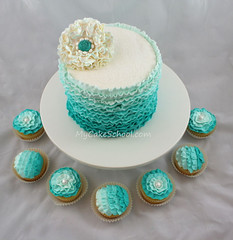 Teal Buttercream Ruffles