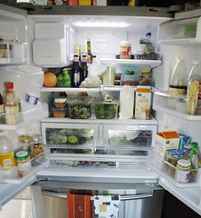 refrigerator, food, pantry,